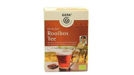 "- ÖKO-TEST empfiehlt ""GEPA Rooibos Tee bio & fair"""