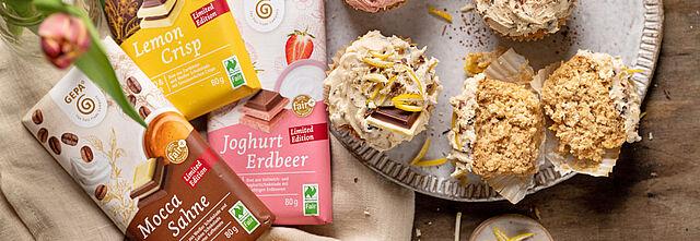 Fluffige Cupcakes mit Schokoladen-Toppings, Foto: