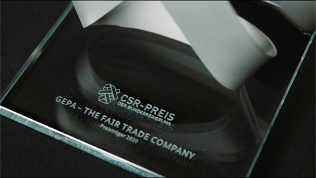 """CSR-Preis der Bundesregierung:  Auszeichnung für """"verantwortungsvolles Lieferkettenmanagement"""" geht an die GEPA"""