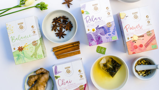 GEPA verschiedene Sorten Tee