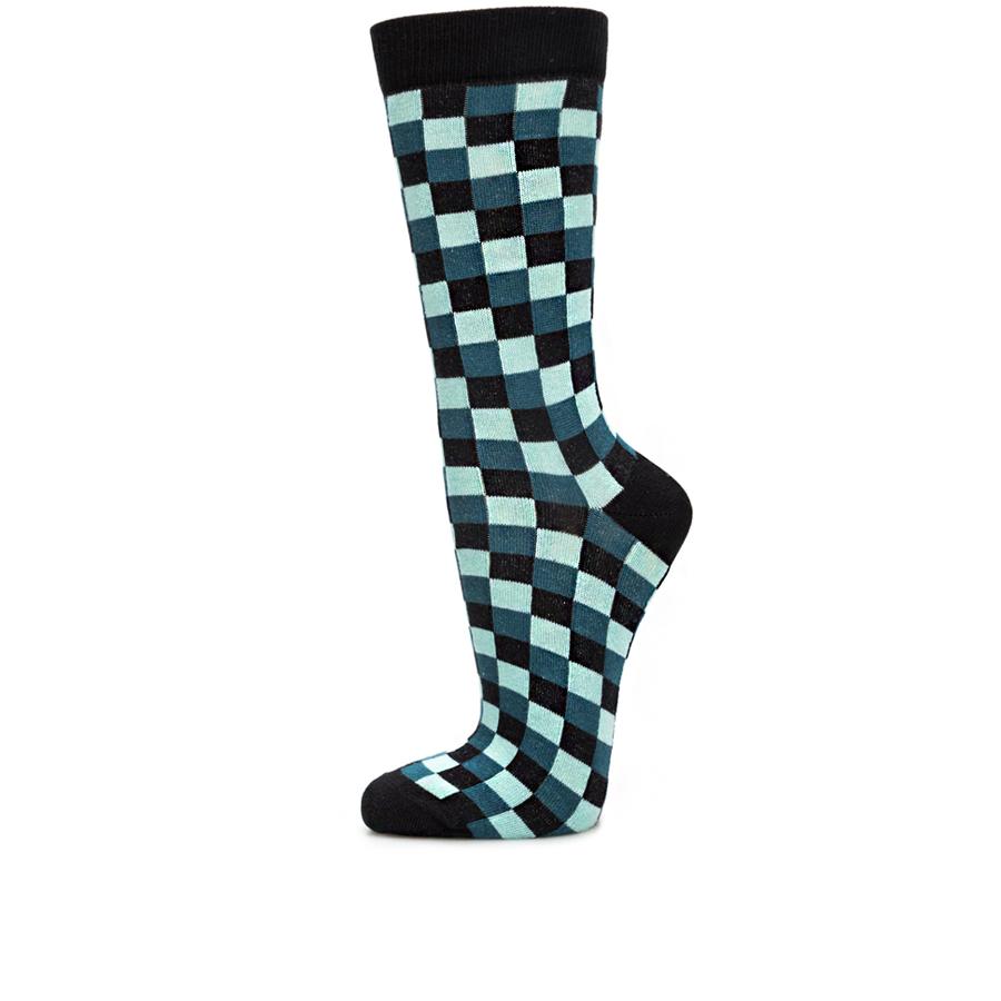 Socken Karo blau 900