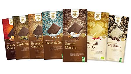 """- """"Von der Bohne bis zur Tafel fair"""" – das neue Schokoladensortiment der GEPA"""