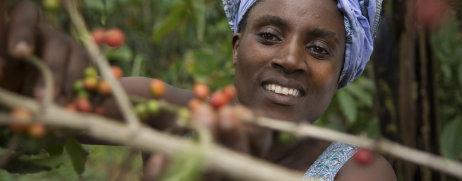 Kaffeebäuerin Agnes Tumuramye ACPCU Uganda