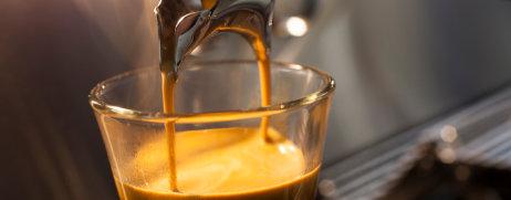 Kaffee aus Siebträger