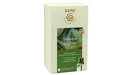 """Stiftung Warentest: Bestnote """"Gut"""" für GEPA Grüntee Ceylon"""