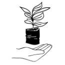 Symbol Icon Hand mit kleinem Baum Setzling